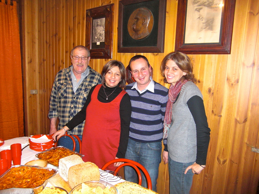 Dad, Claudia, Beppe and Lindsey