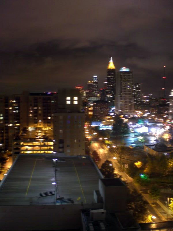 Night view from the Sheraton Hotel, Atlanta