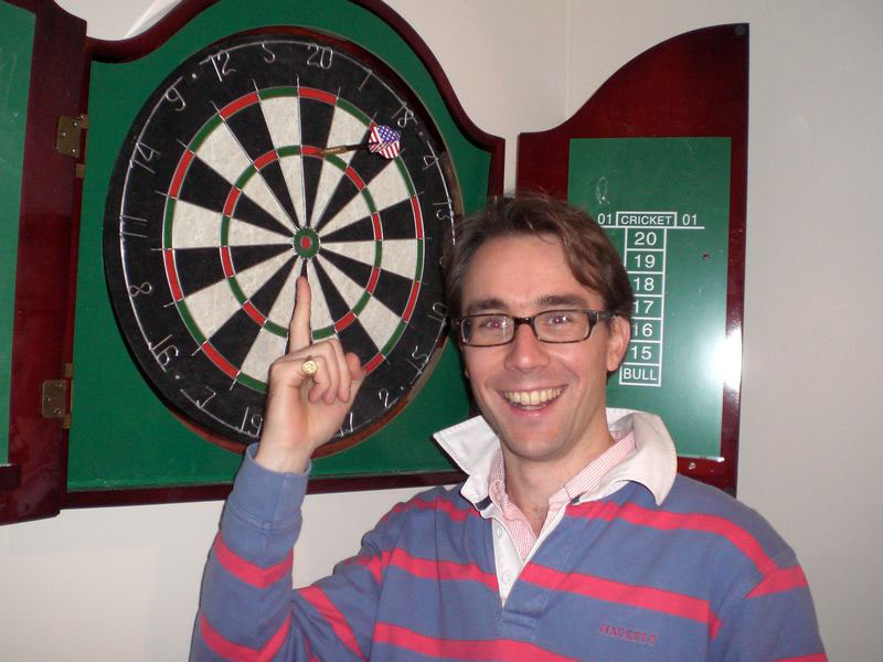 My first defeat: darts.