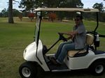 Driving on the golf course