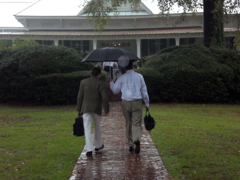 Rules of manhood: (11) Under no circumstances may two men share an umbrella.