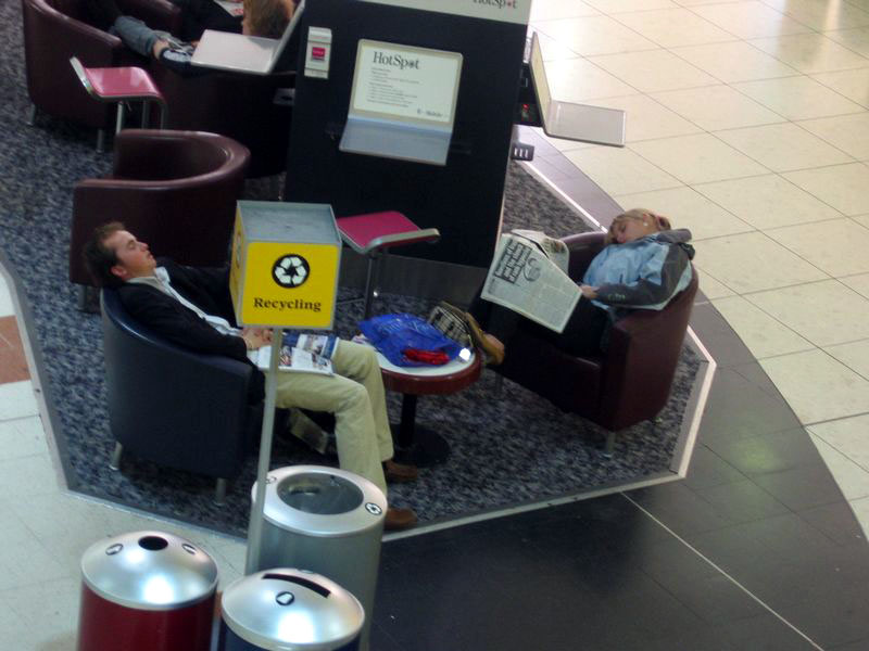 Sleepers in Gatwick