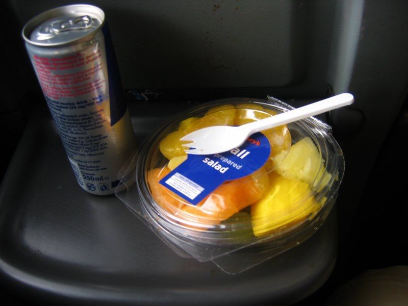 A nice lunch in the plane