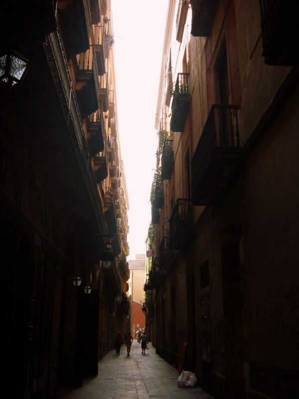 The streets in Barcelona