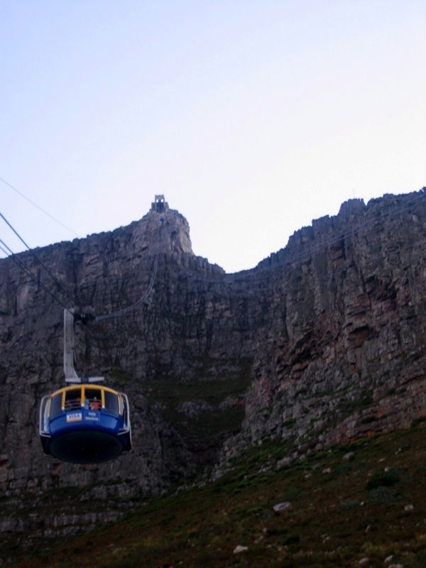 Up to table mountain