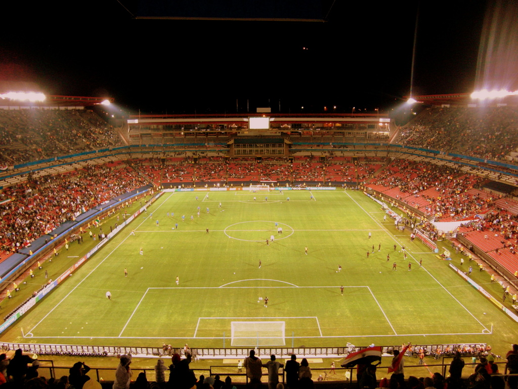 A view from the top tier of Ellis Park