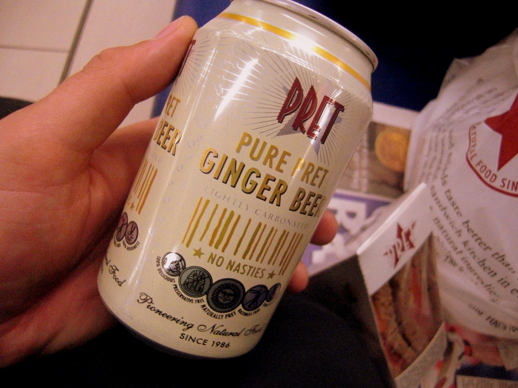 Ginger beer, not as good as in South Africa