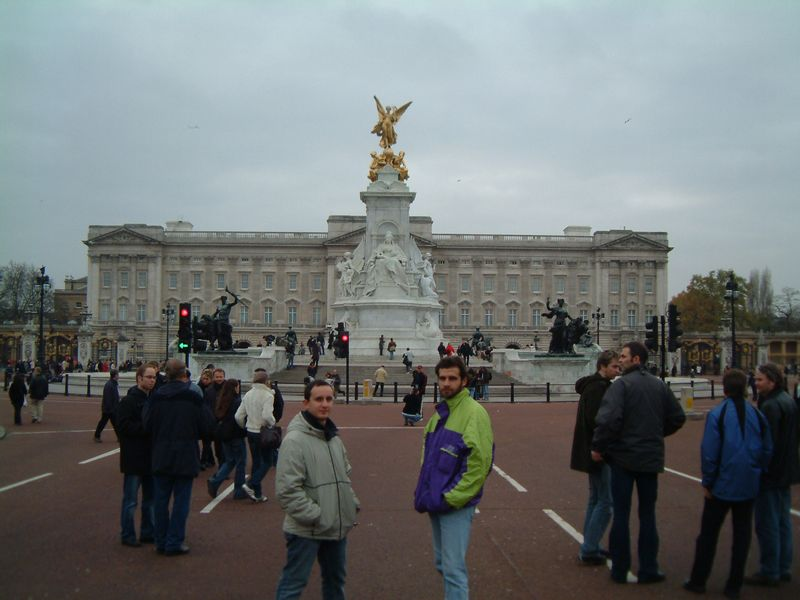 Buckingham Palace, and two random friends
