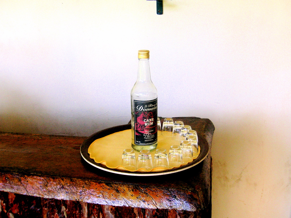 Proper cane rum, freshly made