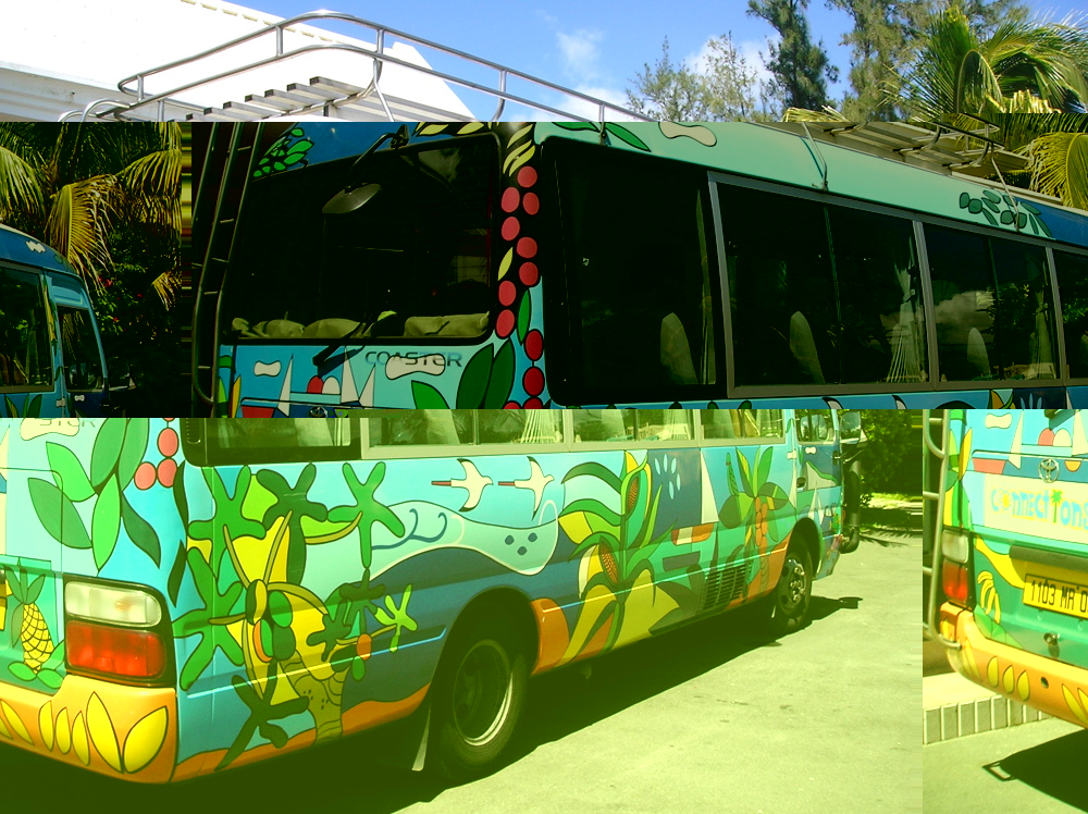 The Connections colorful bus