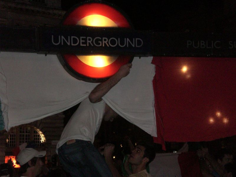 Italians invade the tube