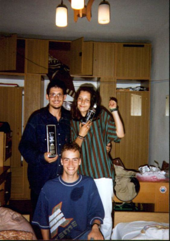 AWF July 1995, Me Kinga and Chris (bonus pic)