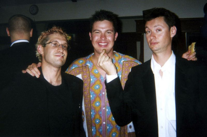 Realview Party, Spring 2002, Johny, Chris and me