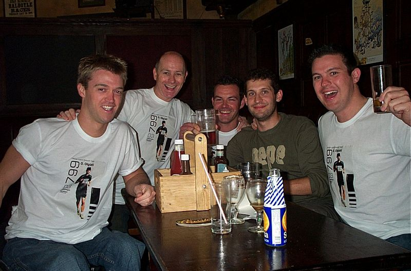 Copenhagen, Supporting Drinking Team (Luke, AoB, Jason, me and Johnny)