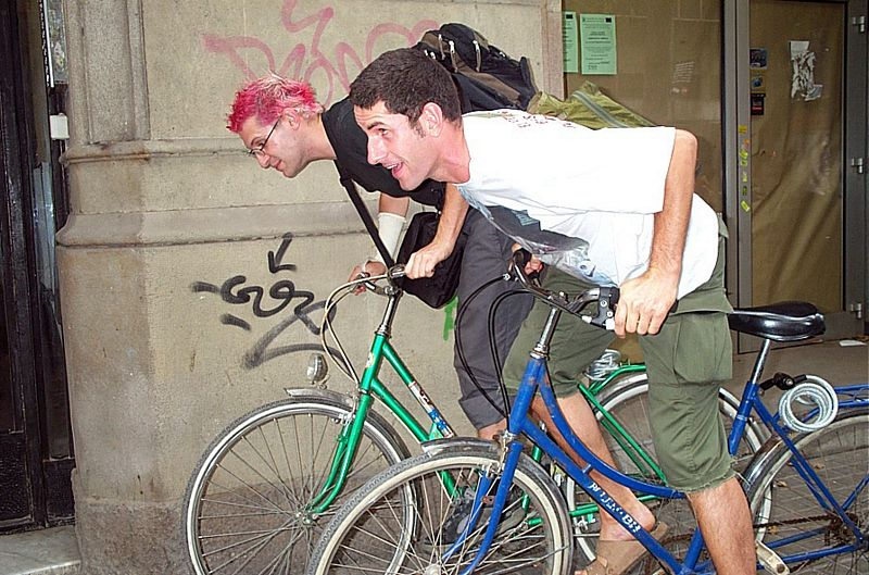 Racing Eric in Barcelona, July 2003