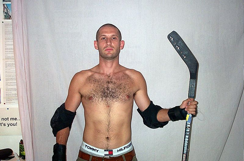 Hockey player, Aug 2003