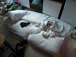 My isolated bed...