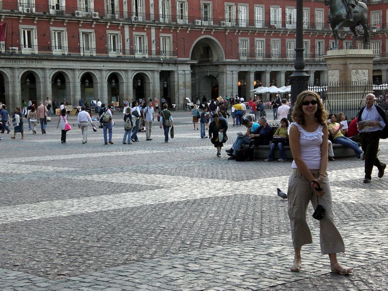 Lindsey in Plaza Mayor