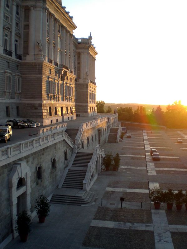 Rear view of the Palacio Real