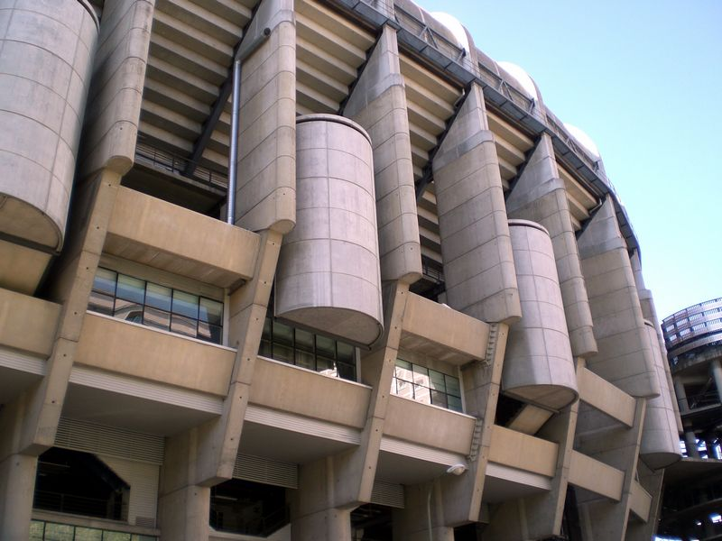 The Bernabeu from outside