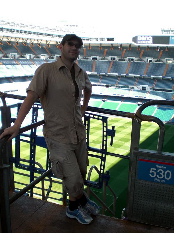Olaf inside the Bernabeu