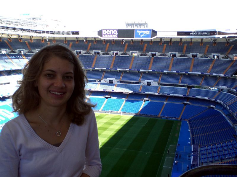 Lindsey at the Bernabeu