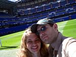 Olaf and Lindsey at the Real Madrid stadium