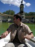 Olaf rowing at Retiro Park