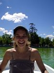 Lindsey rowing at Retiro Park