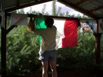 Michal and the italian flag
