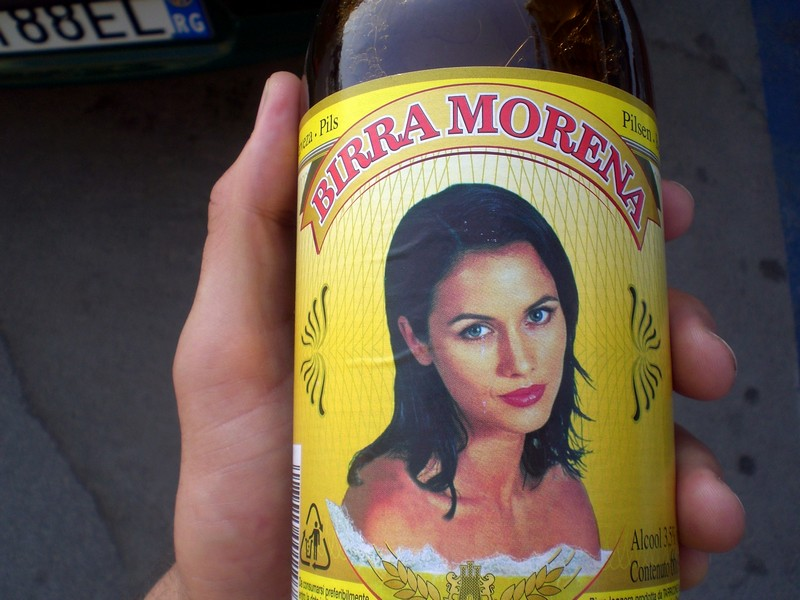 Birra Morena, warm like piss