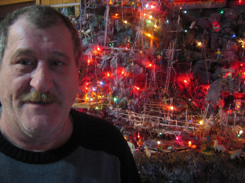 Dad and the presepe