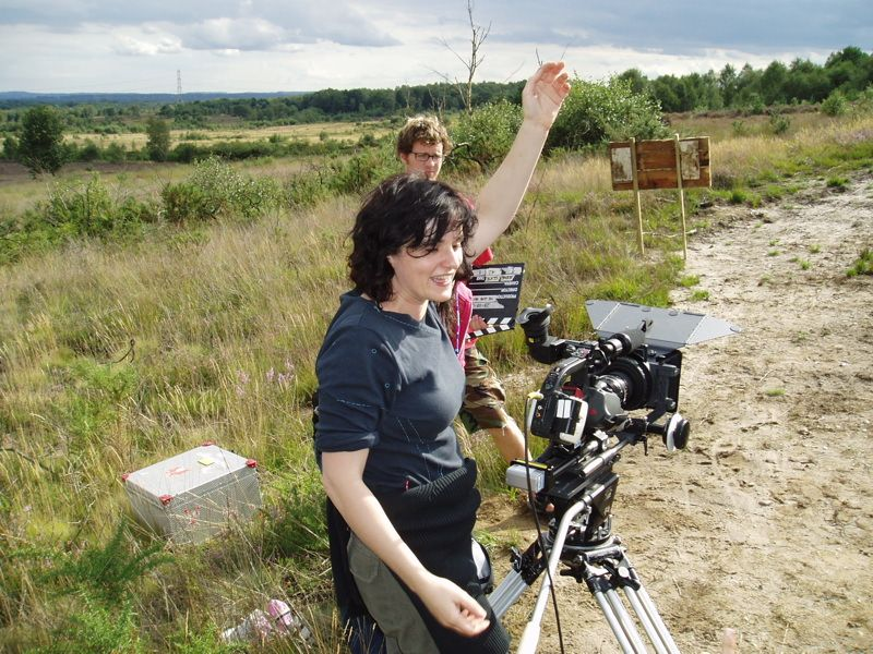 Alessandra Rigillo (DOP) and Simon Sylvester (Camera Assistant)