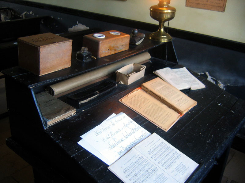 An original preserved school table