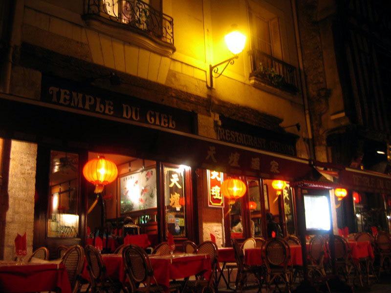 Tours, the street with all the nice restaurants. Chinese.
