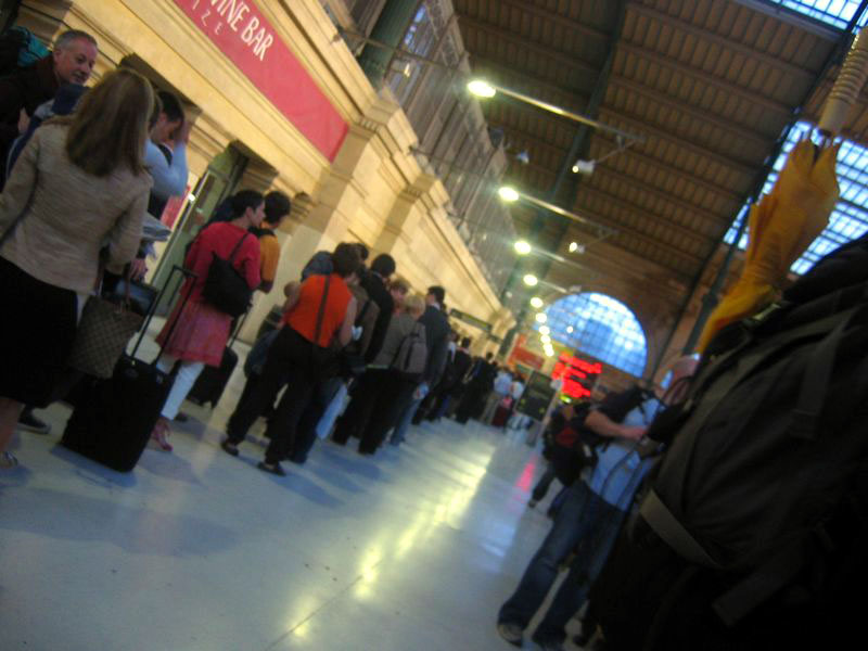 The queue for the Eurostar, 6am